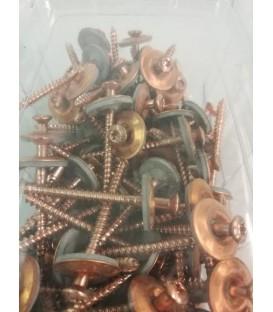 Lot de 2 colliers de serrage inox largeur 9mm  diam 32 à 50mm