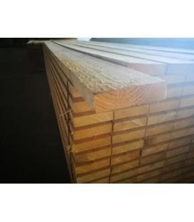 Solive en sapin traité charpente 38x150 mm longueur 4,50ml