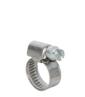 Lot de 2 colliers de serrage inox largeur 9mm  diam 10 à 16mm