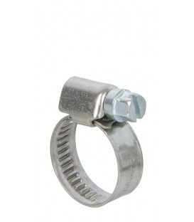Lot de 2 colliers de serrage inox largeur 9mm  diam 12 à 20mm