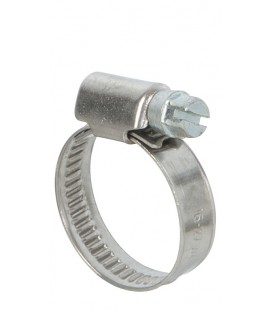 Lot de 2 colliers de serrage inox largeur 9mm  diam 16 à 27mm