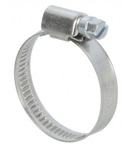 Lot de 2 colliers de serrage inox largeur 9mm  diam 25 à 40mm
