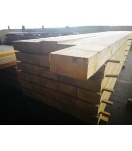Solive en sapin traité charpente 100x200 mm longueur 5ml